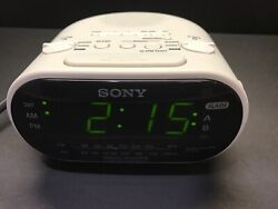 Sony Dream Machine Am/Fm Dual Alarm Clock Radio Model ICF – C31 White Frame
