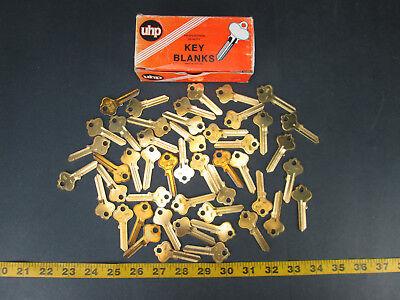Lot Of 47 Brass Curtis Key Blanks Model No. In18 Ultra Hardware New Old Skukgs