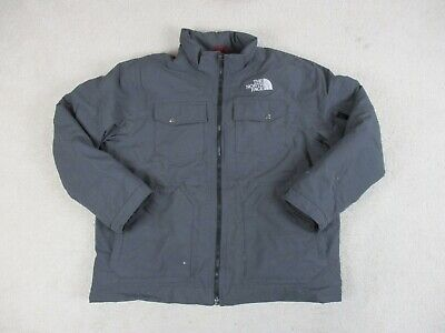 The North Face Fleece Jacket Adult 2XL XXL Gray Full Zip Outdoors Soft Shell Men