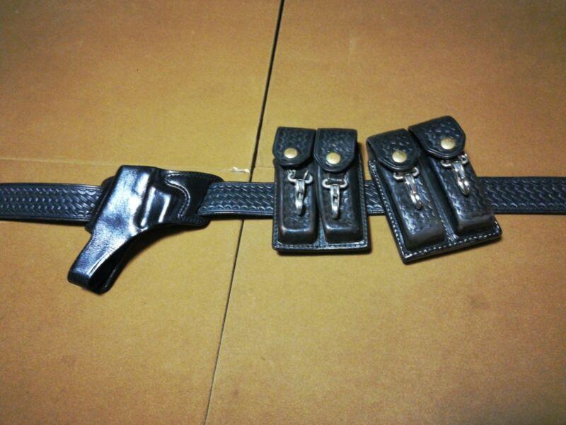 BIANCHI Vintage 70's Police Belt Holster Leather