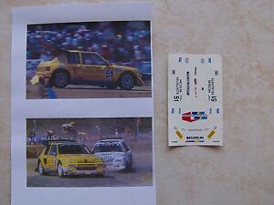 peugeot 205 turbo 16 rallycross 1990 jean manuel beuzelin decals ebay. Black Bedroom Furniture Sets. Home Design Ideas