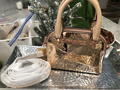 Michael Kors Limited Edition Emmy XS Mini Tiny Satchel Crossbody Bag Rose Gold