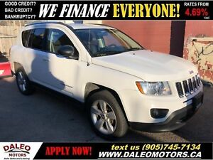 2012 Jeep Compass Sport|4 WHEEL DRIVE|82KMS|FINANCE TODAY!