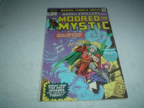 1975 MARVEL CHILLERS # 1 MODRED the MYSTIC 1st APPEARANCE ORIGIN ISSUE