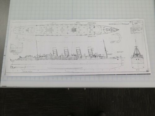 SS LUSITANIA ship plans