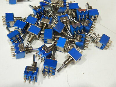 Dpdt Mini Bat Style Toggle Switch 3a 125v - Lot Of 25 Switches - Fast Shipping