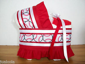 BASEBALL-SPORTS-BOY-DIAPER-BASSINET-BABY-SHOWER-CENTERPIECE-TABLE-DECORATION-NEW