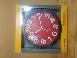 Tempus TC62127R Contemporary Wall Clock with Raised Contrasting Numerals and