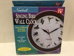 As Seen On Tv Newhall Singing Bird Wall Clock