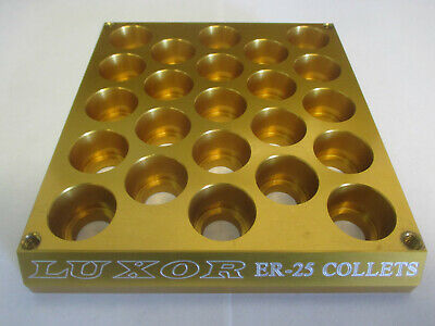 Sale Luxor Aluminum Er-25 Collet Set Rack. Organizer Dispenser Tray Index Cnc