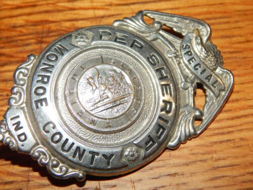 ANTIQUE MONROE COUNTY INDIANA  SPECIAL DEPUTY SHERIFF POLICE  IN IND