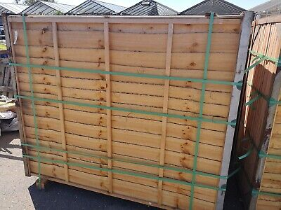 10 x Waney lap  panels Fence Panel, Pressure Treated 6' x 5' 6
