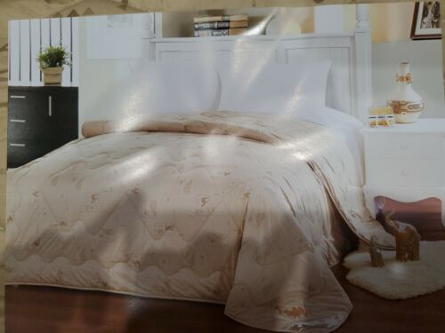 camel quilt wool and silk in luxury