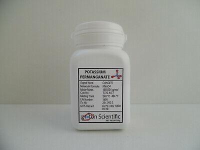 Potassium Permanganate Crystals 99% Pure High grade 50g KMnO4 - Tamper Cap