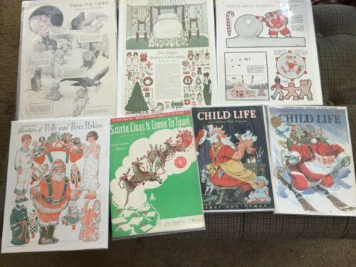 Vintage Christmas Holiday Ephemera:  Twelvetrees Night Before Xmas 1920, & More