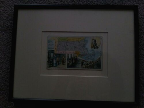 Arbuckle Coffee Co, 1889 Framed/ Matted Advertising Trade Card - Massachusetts