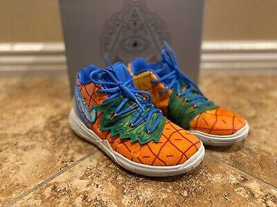 Nike Kyrie 5 SPONGEBOB PINEAPPLE House Kids Size 13c Excellent Condition