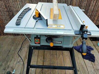 "Titan Electric Table Saw & Stand TTB674TAS 254 X 30mm TCT Blade, 10"" 230V"