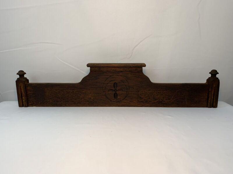"Antique VTG  Carved Wood Door Pediment Topper  Architectural Salvage 24"" Long"
