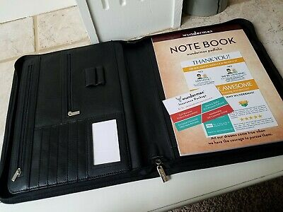 Wundermax Padfolio Zipper Portfolio With Writing Pad Professional Interview