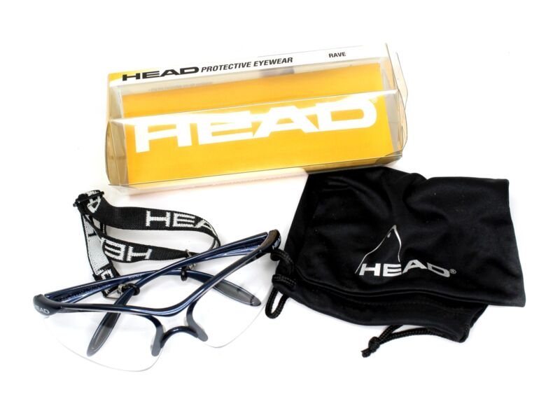 NEW Head Racquetball Eyewear RAVE 988001 Safety Sport Glasses Tennis Squash