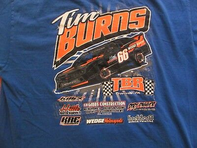 TBR Tim Burns Wedge Motorsports Greenville PA Chevy Camaro T shirt XL 22.5 x 29