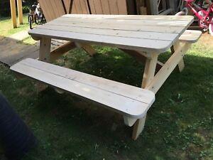 Handmade Cedar Picnic Table