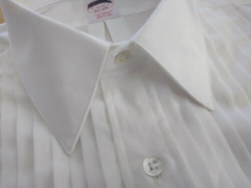 NWT Brooks Brothers White Formal Shirt 17-35 Traditional Fit MSRP $135