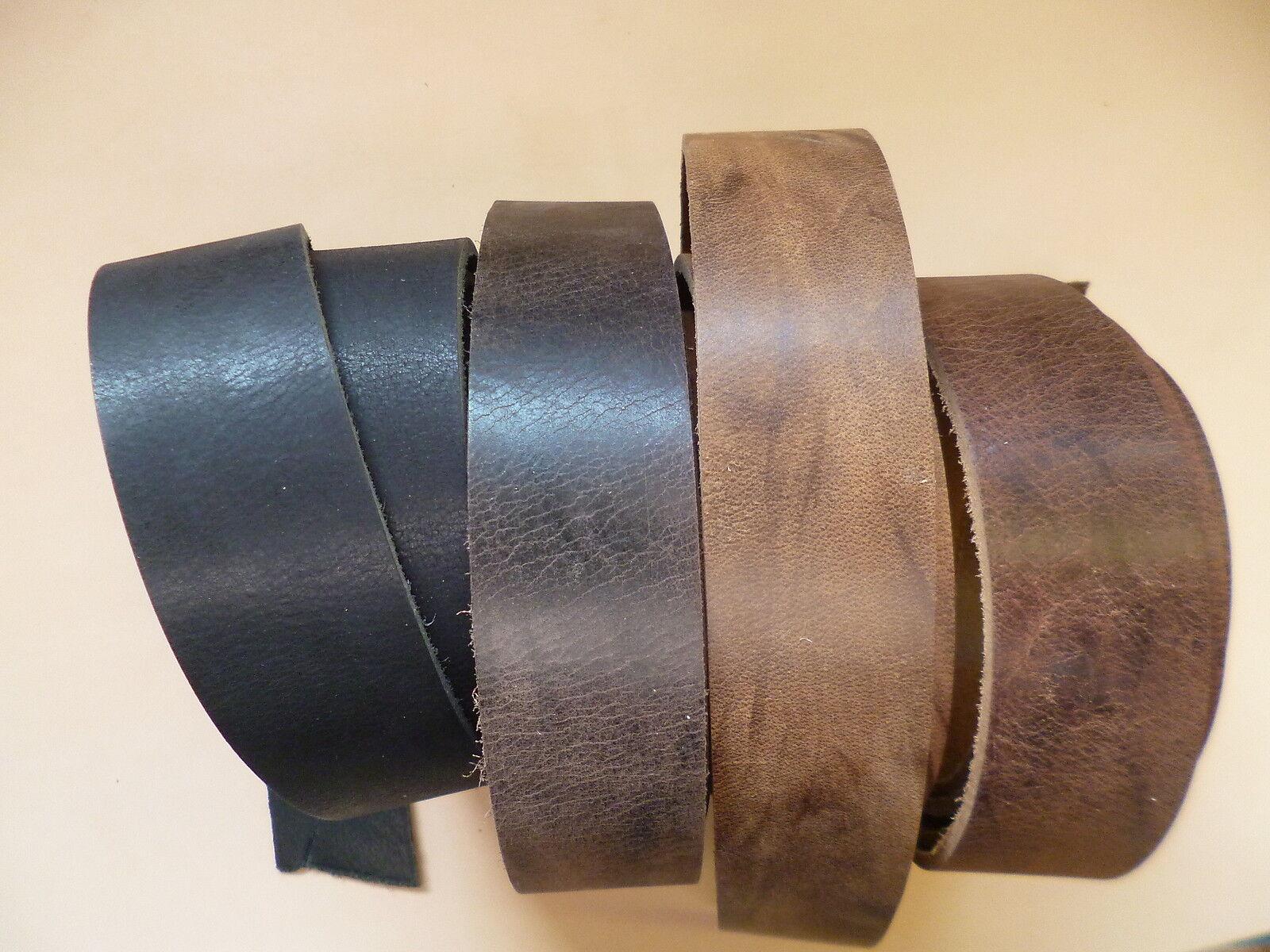 Lederriemen Gürtel Büffelriemen Dickleder 7 versch. Farben Breite 2 - 5 cm x 130
