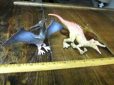 Acrocanthosaurus & Pteranodon dinosaur models--museum line quality