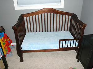 3-1 brown crib bed frame