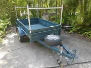 Box Trailer 7x4 Heavy Duty Galvanised, Deep Sides, Carry Racks Yaroomba Maroochydore Area Preview