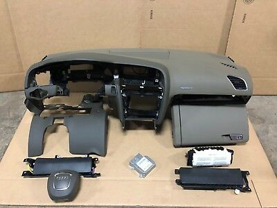 08-13 AUDI A5 COUPE DASH DASHBOARD PAD PANEL ASSEMBLY WITH AIR BAGS and MODULE