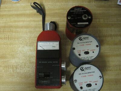 Quest Electronics Model 215 Sound Level Meter 2-qc-10 1-ca-12soundcalibrator