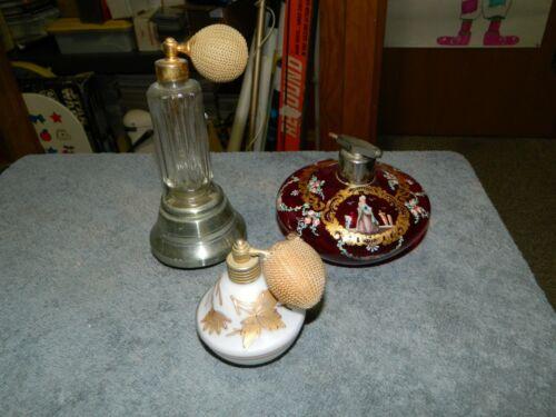 Antique Perfume Atomizer Lot of 3