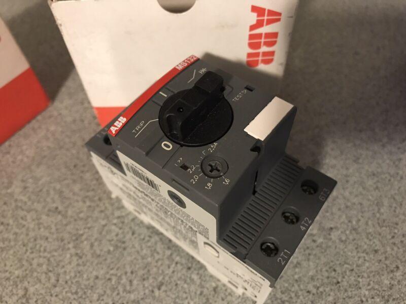 ABB Manual Motor Starter MS132-2.5 ( NEW )