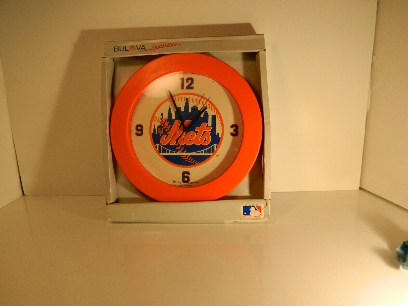 bulova sports time New York METS wall clock tested and works