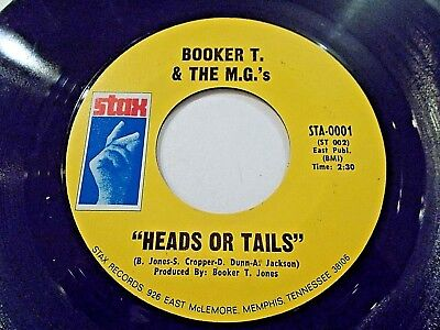 Booker T & The MG's Heads Or Tails / Soul Limbo 45 1968 Stax Vinyl