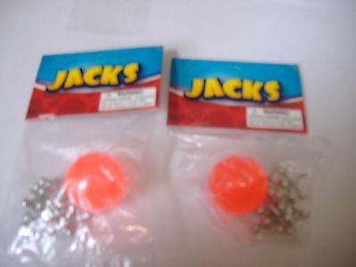 2 Set of metal jacks with red rubber ball 8 metal jacks and 1 ball classic game](Ball And Jacks Set)