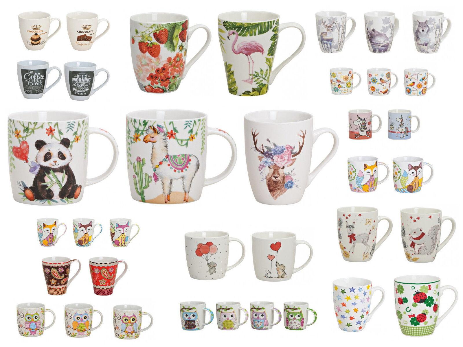 Tasse / Becher für Tee / Kaffee Porzellan reinschauen Motiv Auswahl