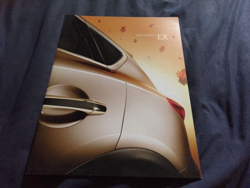 2008 Nissan Infinity EX USA Market Color Catalog Brochure Prospekt