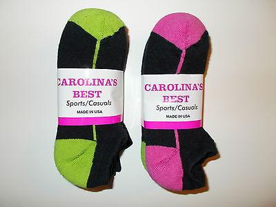 Carolina's Best Made In USA Womens Lo-Cut Socks Shoe Size 6-10 Six Pairs