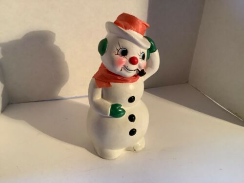 "Vintage collectible Commodore Smokey the snowman 5"" H"