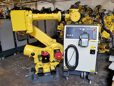 Fanuc R-2000ib 210f Robot W R30ia Controller Low Hours- Complete Robotic System