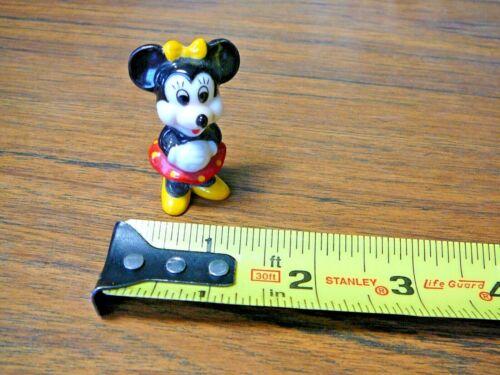 "Walt Disney Porcelain 2"" Figurine Minnie Mouse"