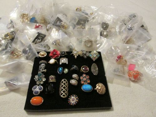 Wholesale lot of 100 NEW Fashion Rings Assorted Styles & Sizes