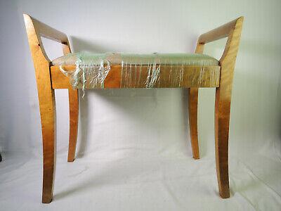 RESTORED Mid Century Modern Teak? Oak? Ottoman Foot Stool Footstool Bench Modern Oak Bench