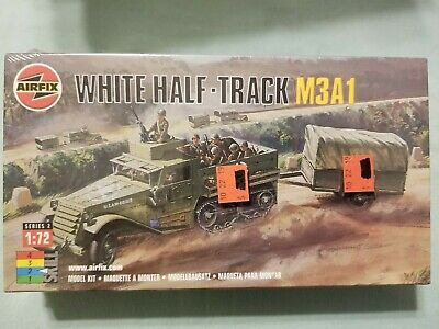 1/72 scale  White Half-Track M3A1   Airfix model kit complete  Half Track Tracks