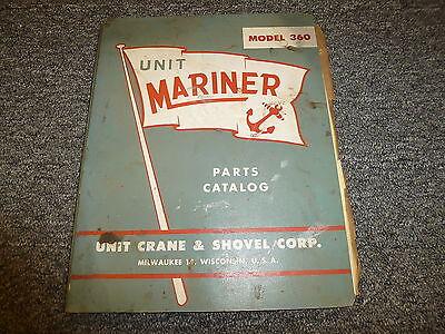 Unit Crane Shovel 360 Mariner Offshore Oil Rig Crane Parts Catalog Manual