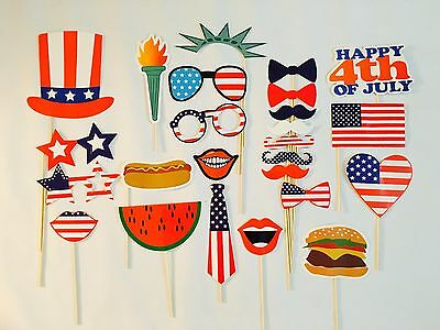 Independence Day Photo Booth Props, 4th of July Party Decorations, Favors, USA](4th Of July Photo Booth Props)